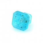 "Aegean Blue Etched Glass 1 1/4"" Furniture Knob"