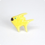 Solid Yellow Angel Fish Knob-Left Facing