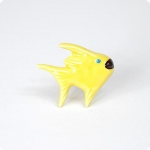 Solid Yellow Angel Fish Knob-Right Facing