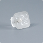 Clear Etched Glass 1 1/4 Furniture Knob