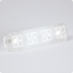 "Clear Etched Glass 3"" Pull"