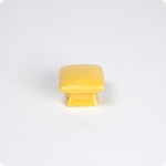 Domed Square Cabinet Knob-Yellow Gold