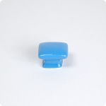 True Blue Domed Square Cabinet Knob