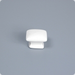 Domed Square Knob-Arctic White