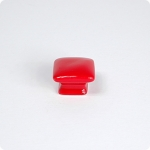 Cherry Red Domed Square Knob