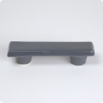 "Gull Grey Rectangle 3"" Cabinet Pull"