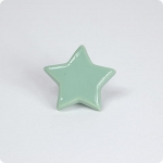 Leaf Green Star Cabinet Knob