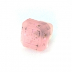 "Light Pink Etched Glass 1 1/4"" Furniture Knob"