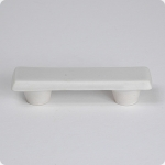 "Matte Taupe Rectangle 3"" Cabinet Pull"