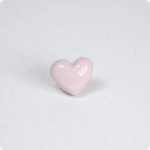 Heart Cabinet Knob- Lt. Baby Pink