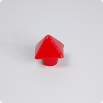 Cherry Red Pyramid Cabinet Knob