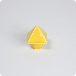 Yellow Gold Pyramid Cabinet Knob