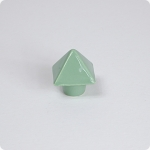 Leaf Green Pyramid Knob