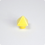 Light Yellow Pyramid Knob