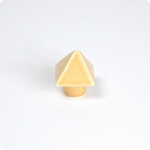 Tuscan Yellow Pyramid Knob