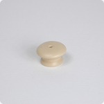 Round Cabinet Knob w/ Center Screw-Cobblestone Sand