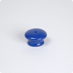 Bright Blue Round Cabinet Knob w/ Center Screw