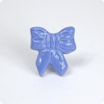 Ribbon Bow Knob-Sky Blue