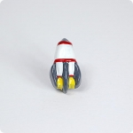 Space Rocket Cabinet Knob Cherry Red