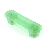"Spring Grass Green Etched Glass 3"" Pull"