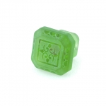 "Spring Grass Green Etched Glass 1 1/4"" Furniture Knob"