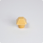 Tuscan Yellow Square Top Pyramid Cabinet Knob