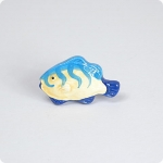 Vertical Striped Tropical Fish Knob-Left Facing