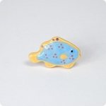 Polka Dotted Tropical Fish Knob-Right Facing