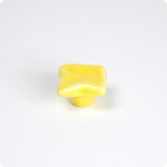 Light Yellow Uneven Square Cabinet Knob