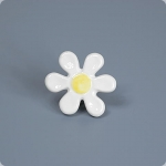 60's Flower Knob-White/Lt. Yellow