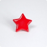 Cherry Red Star Cabinet Knob