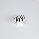 Domed Square Knob-Zebra