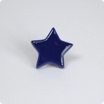 French Blue Star Cabinet Knob