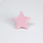 Light Pink Star Furniture Knob