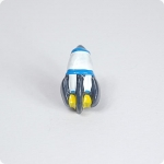 Space Rocket Cabinet Knob-Bright Blue