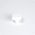 Artic White Square Cabinet Knob