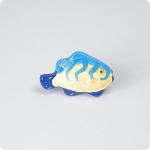Vertical Striped Tropical Fish Knob-Right Facing
