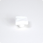 Artic White Uneven Square Cabinet Knob